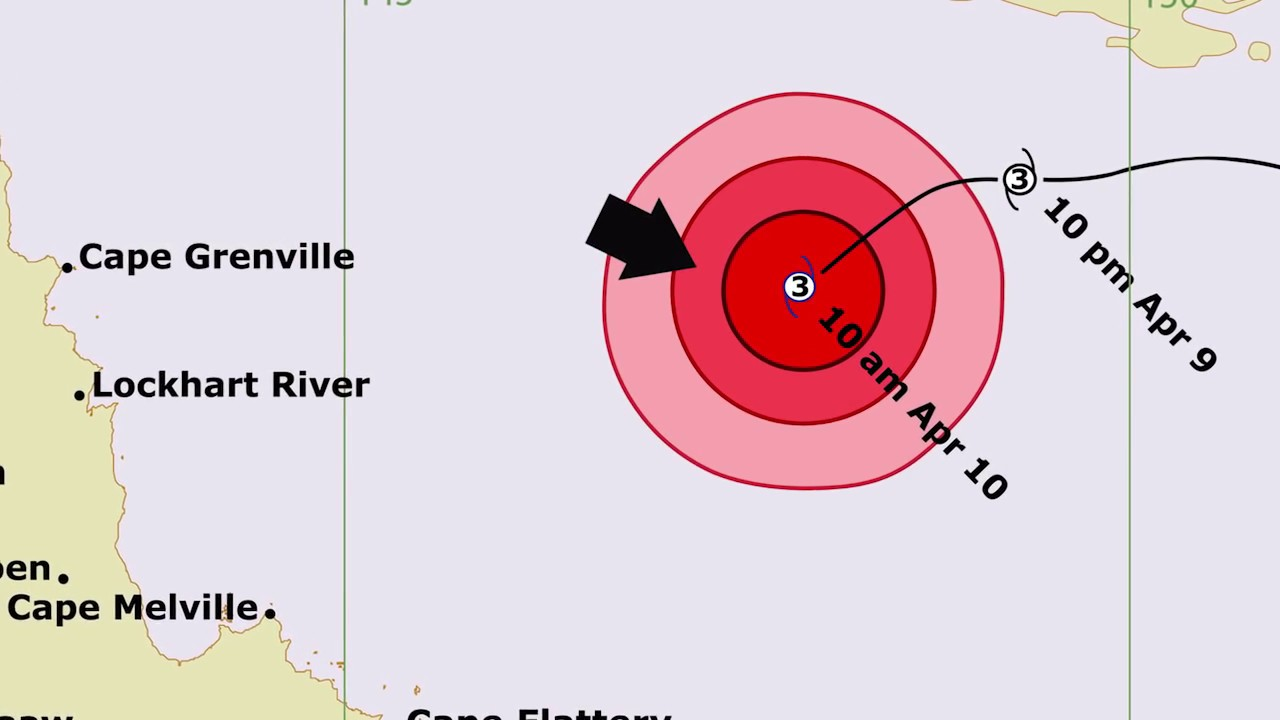 Understanding Tropical cyclone forecast track maps (QLD) - YouTube