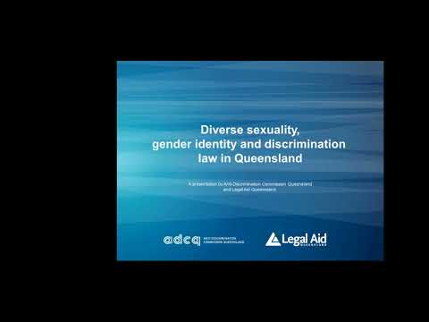 Diverse sexuality, gender identity and discrimination law in Queensland