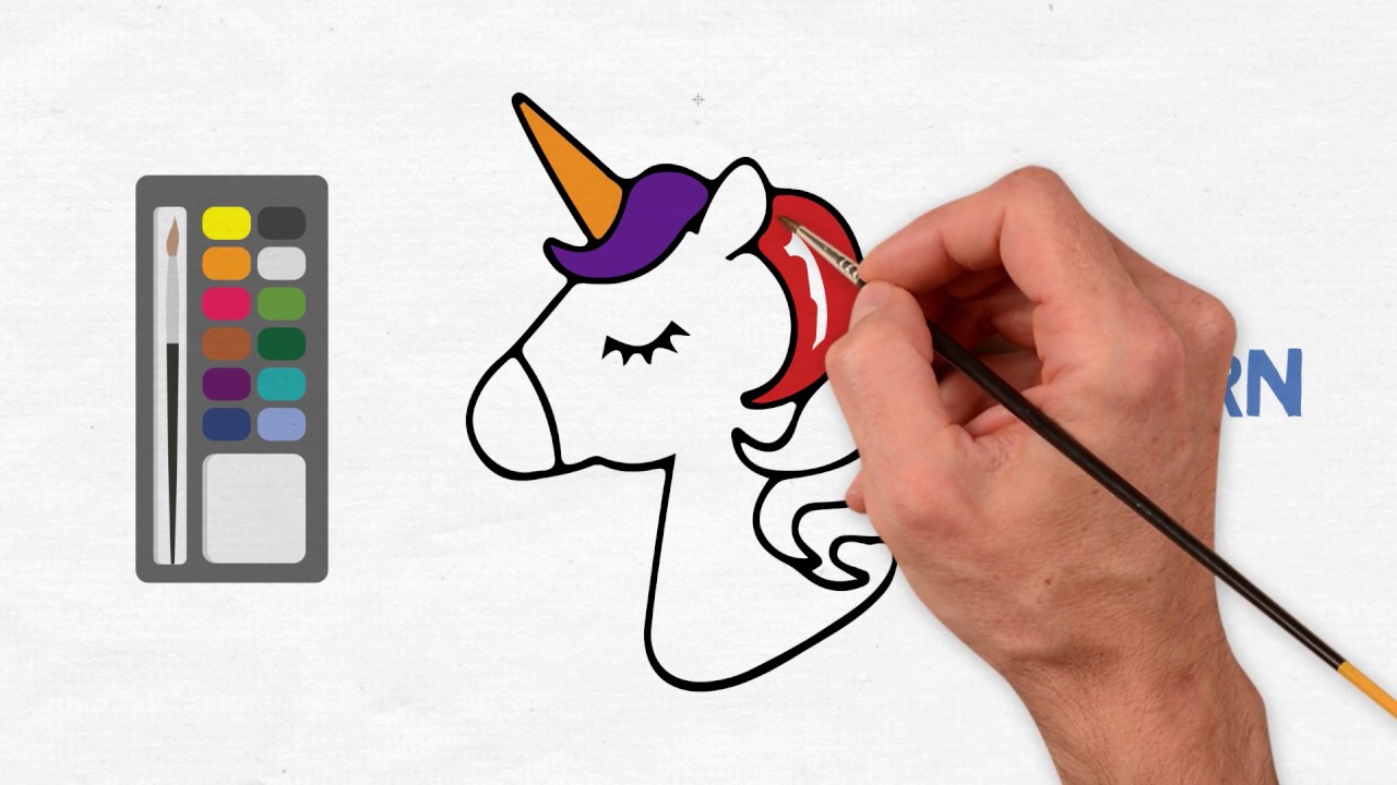Unicorn Page Coloring Unicorn Boyama Youtube