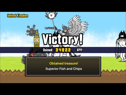 [The Battle Cats] How To Get Superior Treasure 3: United Kingdom