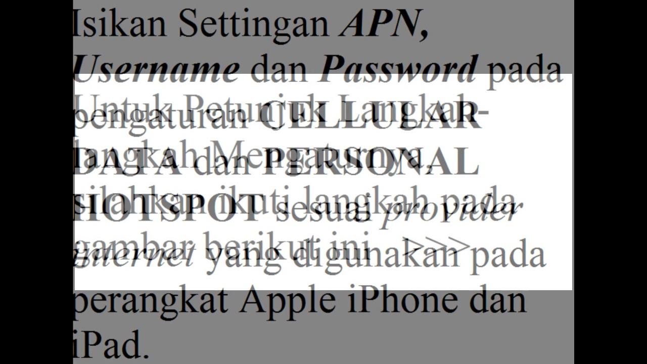Cara Memunculkan kembali personal hotspot iPhone iPad yang hilang ...