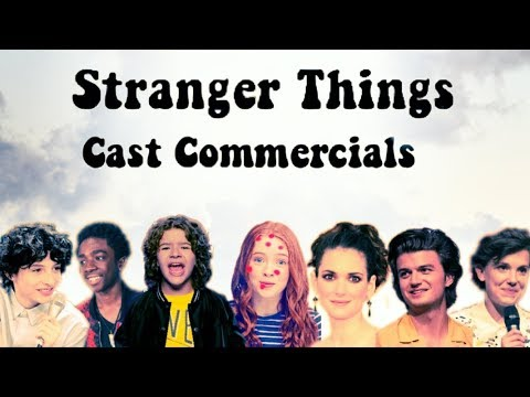 STRANGER THINGS CAST COMMERCIALS COMPILATION