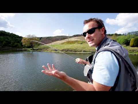 Fly Fishing For Trout With Ultra Light Fly Gear At UK Stillwater