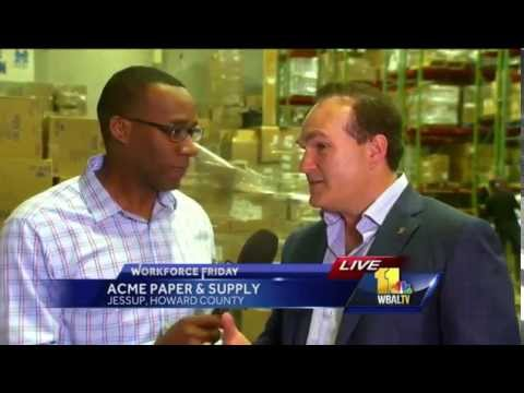 Acme Paper & Supply On WBAL TV News Workforce Friday