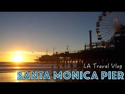 BEST rollercoaster ride - Santa Monica Pier | Travel Vlog
