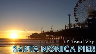 BEST rollercoaster ride - Santa Monica Pier | Travel Vlog