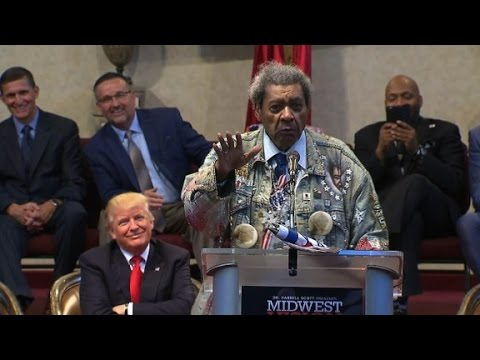 Don King drops N-word while introducing Trump