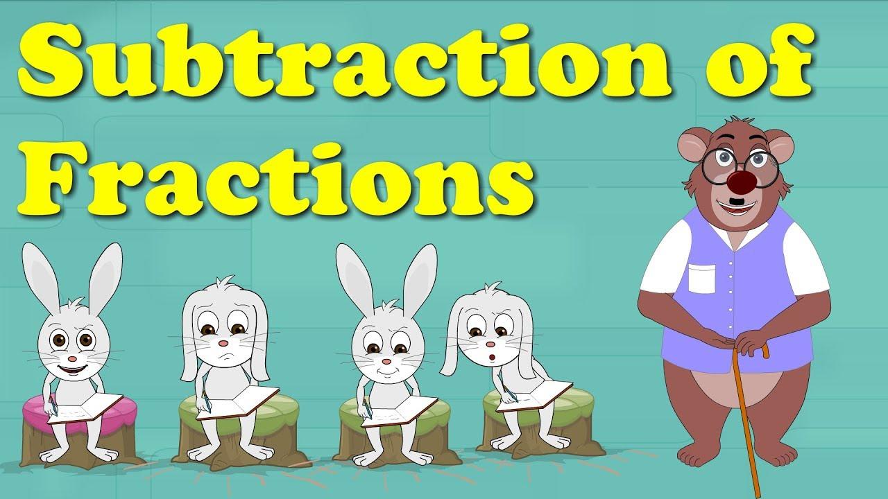 Subtraction of Fractions   #aumsum #kids #science #education #children