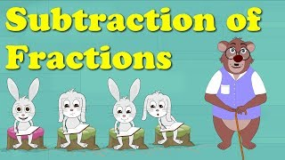 Subtraction of Fractions for Kids | #aumsum