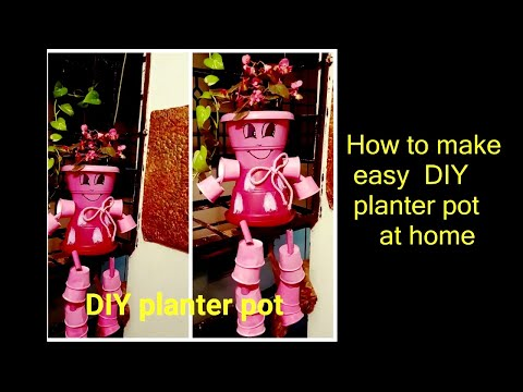 DIY Pot planter at home|| How to make Flower clay Pot People