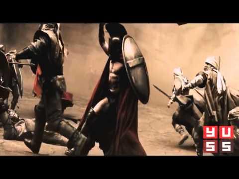 300 спартанцев, сцена с битвой