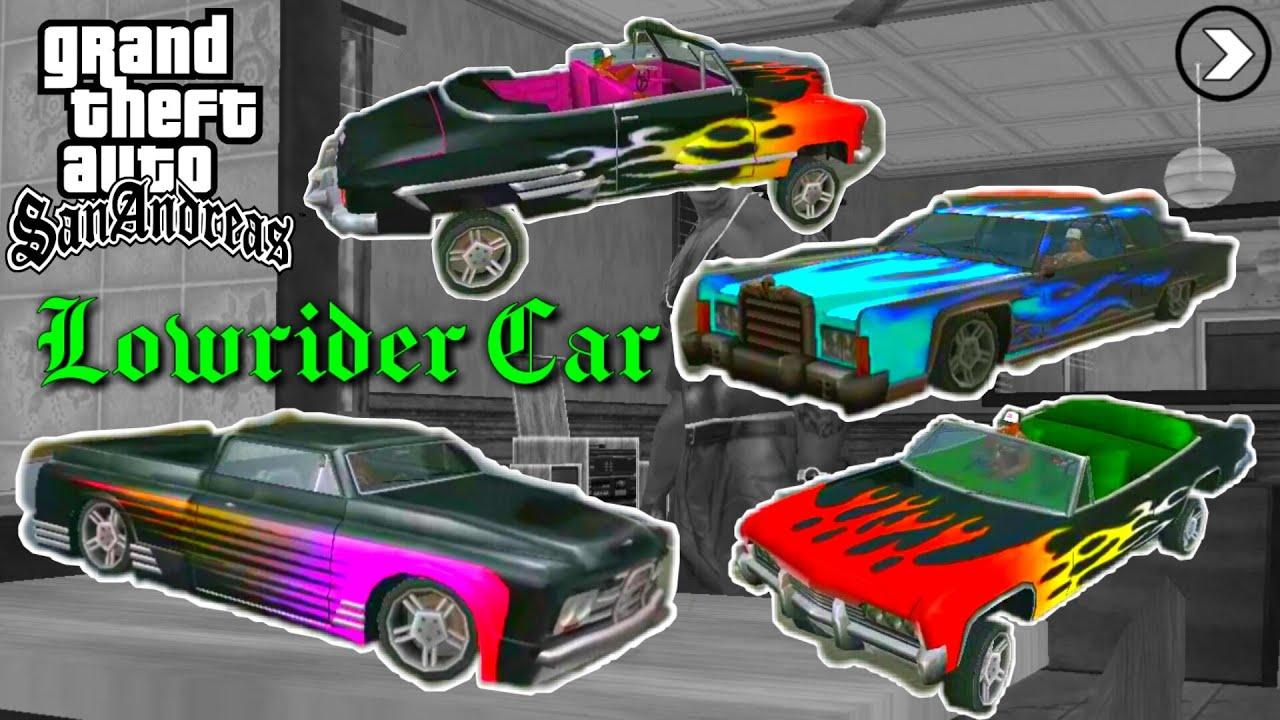Semua Kendaraan Lowrider Gta San Andreas Paijo Gaming Youtube