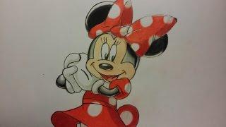 Como dibujar a Minnie Mouse con figuras geométricas (fácil y sencillo)| how to draw Minnie Mouse.