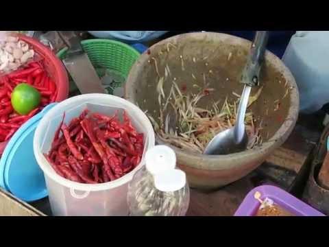 Thai Green Papaya Salad  Thai Best Som Tum  Thailand Street Food