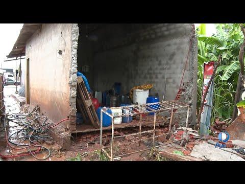 Chuva forte em Goiânia provoca prejuízo