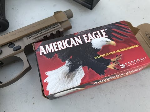 9x19mm, 147gr FMJ, American Eagle (AE9FP) Velocity Test