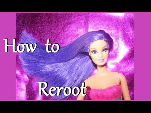 Rerooting tutorial - How to Reroot doll hair - YouTube