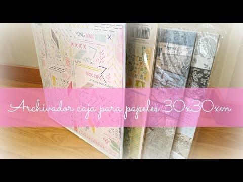 hacer-archivador-caja-organizadora-papeles-30x30-reciclando-cartón.