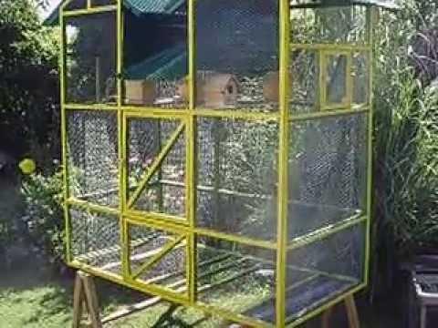 Jaula pajarera 1600x800x1700 youtube for Construccion de jaulas flotantes para tilapia