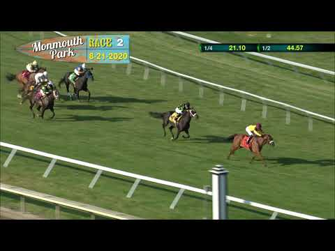 video thumbnail for MONMOUTH PARK 08-21-20 RACE 2