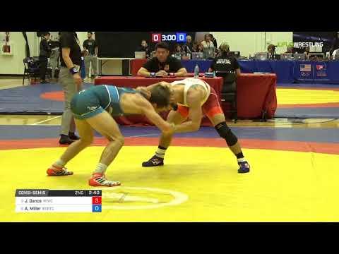 Mens Freestyle 57 Consi-Semis - Joseph Dance (NYAC) vs. Austin Miller (BVRTC)
