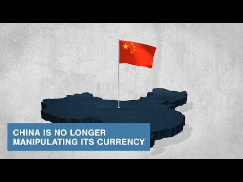 China is No Longer Manipulating its Currency