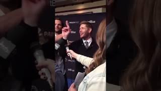 Jensen Ackles interrupting Jared's interview at PaleyFest 2018