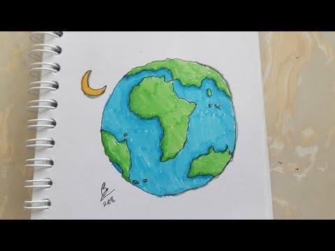 Cách để vẽ quả địa cầu đơn giản