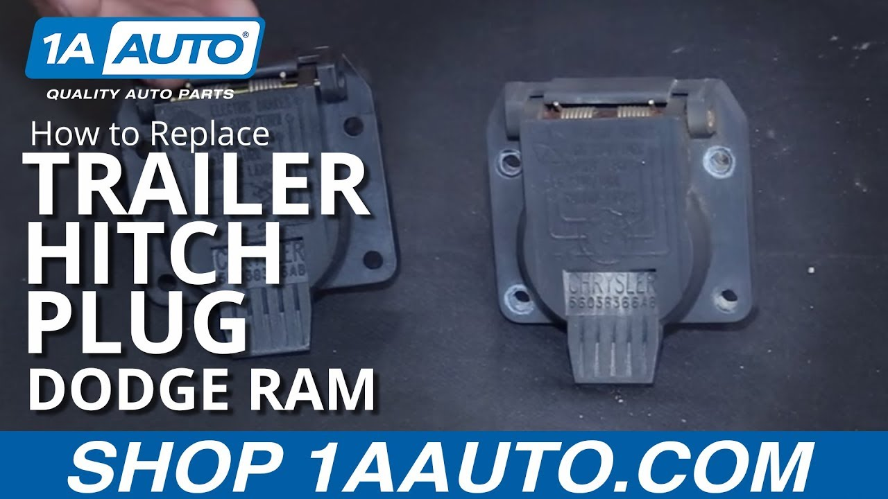 How To Install Replace Trailer Hitch Plug Receptacle 1998 10 Dodge 7 Blade Wiring Diagram Truck End Ram Buy Auto Parts At 1aautocom