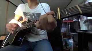 1番をアコギ1本で、間奏からはエレキも弾いてやってみました。下げたキ...
