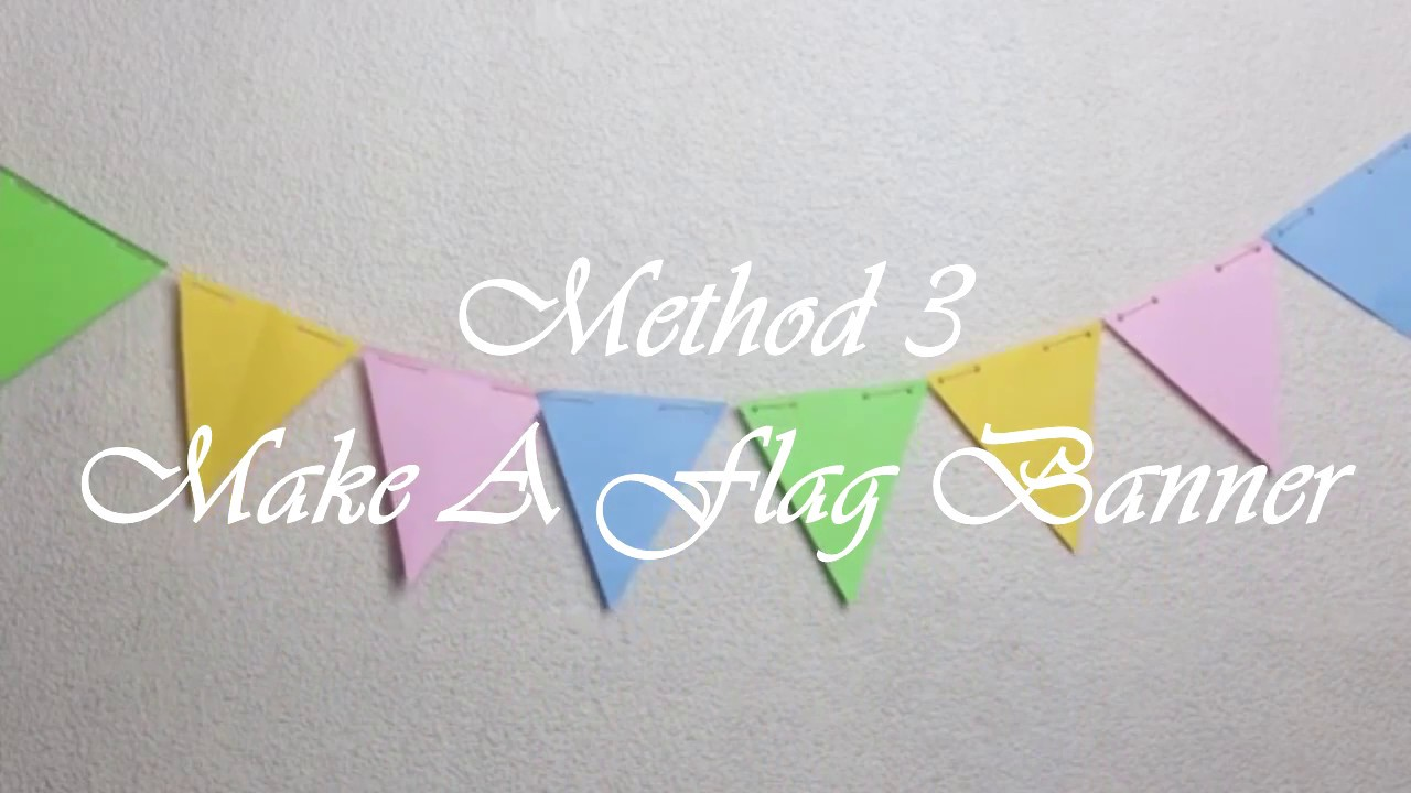Make A Flag Banner Diy Easy Kids Diycraftivi