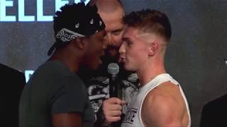 KSI floors Security after Joe Weller pushes him (Upload press conference)