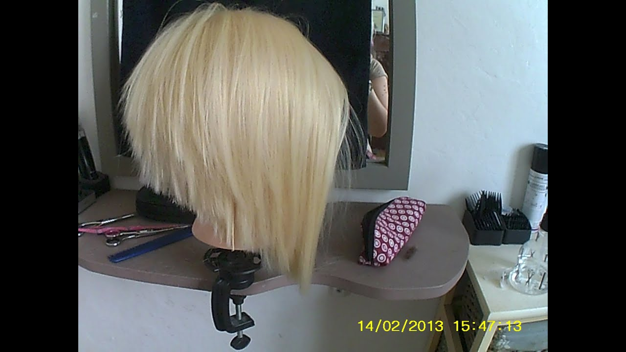 Préférence tuto coupe femme coiffure carre plongeant - YouTube YJ36