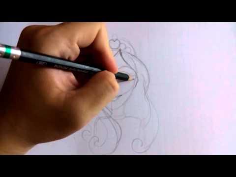 สอนวาดรูปการ์ตูน เจ้าหญิง บาร์บี้ barbie princess โดย วาดการ์ตูนกันเถอะ