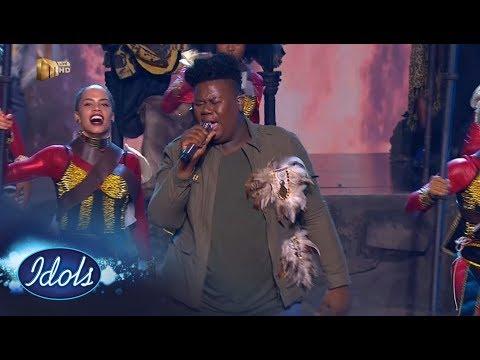 Top 7 Showstopper: King B -  'Inde' – Idols SA | Mzansi Magic