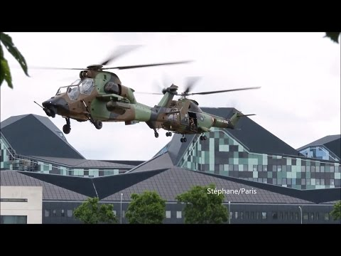 Video: Helicopter NH90,TIGER,PUMA in action at Paris