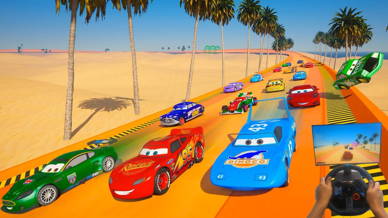 Race All Cars 2   McQueen & Friends Nigel Gearsley Max Schnell Miguel Camino Doc Hudson Chick Hicks