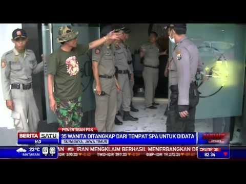 Satpol PP Surabaya Tertibkan PSK Di Tempat Spa