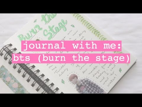 ☼ BTS: BURN THE STAGE // journal with me (11) ☼