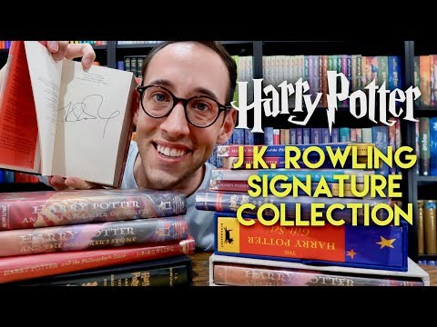 SIGNED HARRY POTTER BOOK COLLECTION AND J.K. ROWLING SIGNATURE INFO