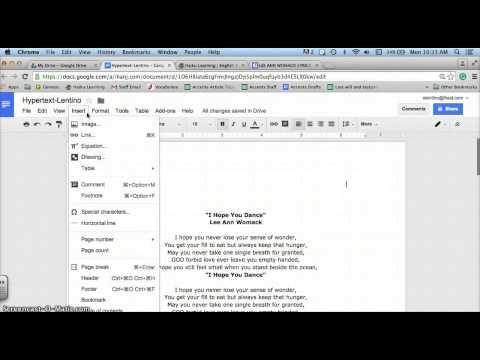 Starting the Hypertext Assignment