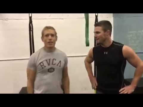 Stephen Amell training 2016 for Arrow Season 5