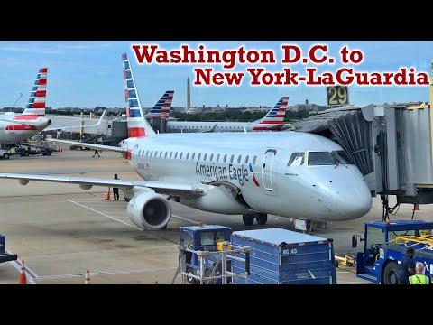 Full Flight: American Eagle E175 Washington D.C. To New York-LaGuardia (DCA-LGA)