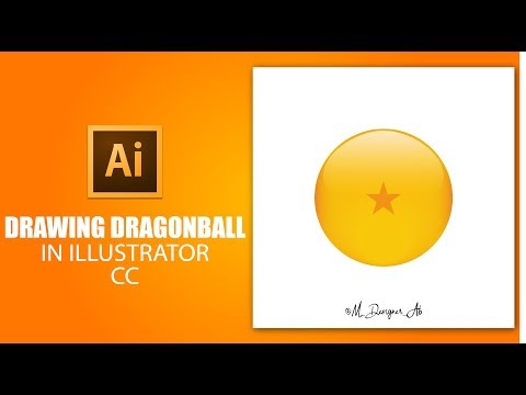 Draw Dragon Sphere From Dragon Ball - Illustrator CC - Tutorial thumbnail