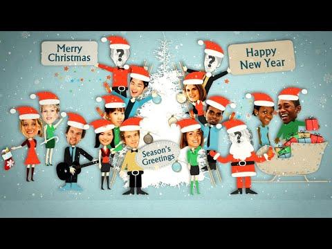 Animated Christmas Card Template - Company Xmas Card - YOUR FACES!
