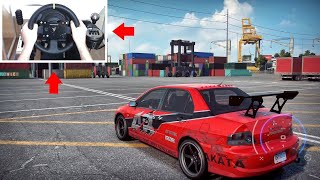 Need for Speed Heat Drifting at the Docks! (Tokyo Drift Evo) Steering Wheel + Pedals Gameplay!
