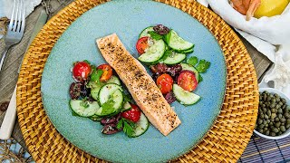 Poached Salmon with Cucumber and Tomato Salad - Home & Family