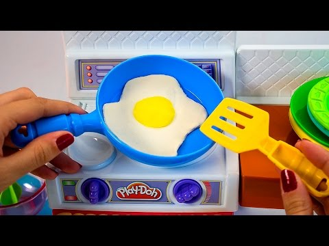 Thumbnail: Play Doh Meal Makin Kitchen Playset Play Dough Mini Kitchen Chef Cocinita de Juguete Toy Videos