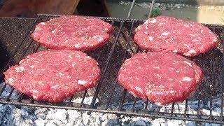 как приготовить бургер на мангале