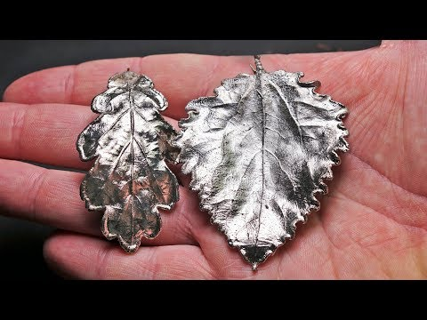 I covered the leaves with nickel metal!